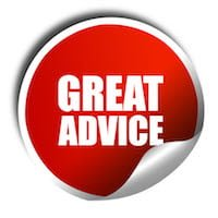 great advice, 3D rendering, a red shiny sticker