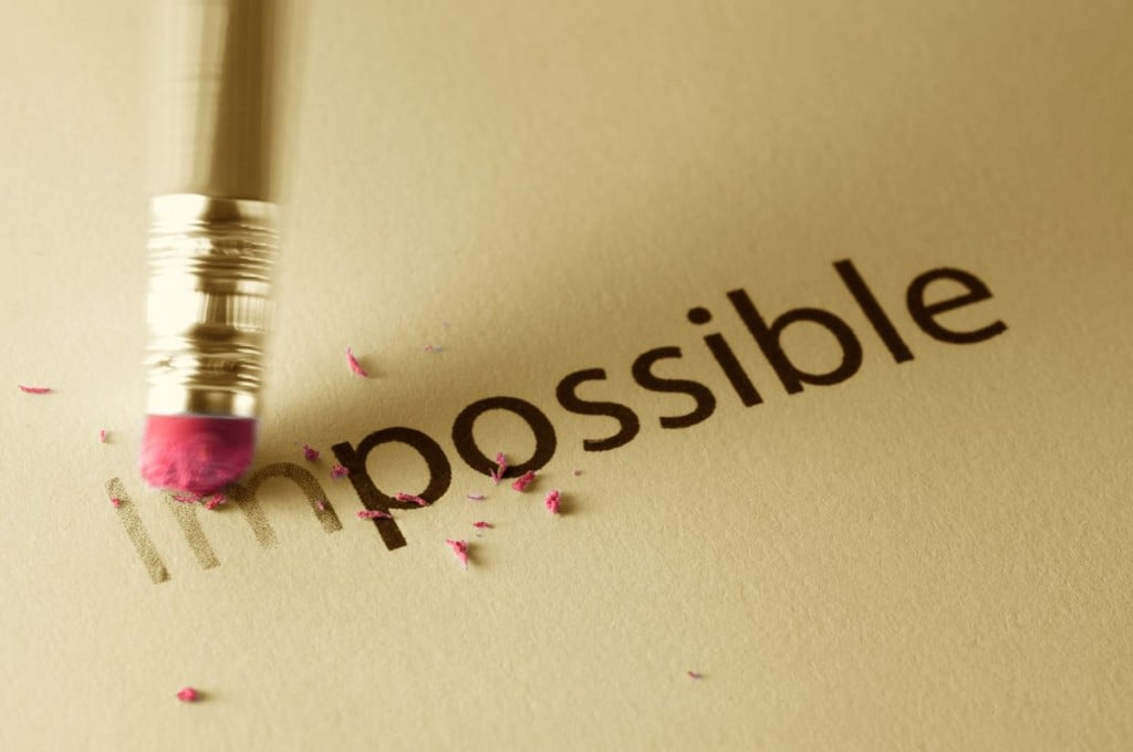 erasing the word impossible to show that it is possible to be successful in the partnership admissions vote