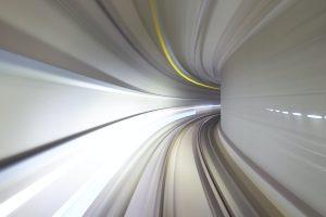 acceleration through a tunnel