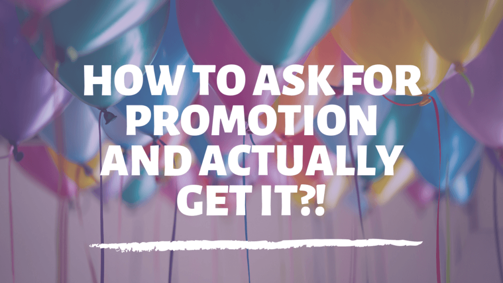 ask for a promotion