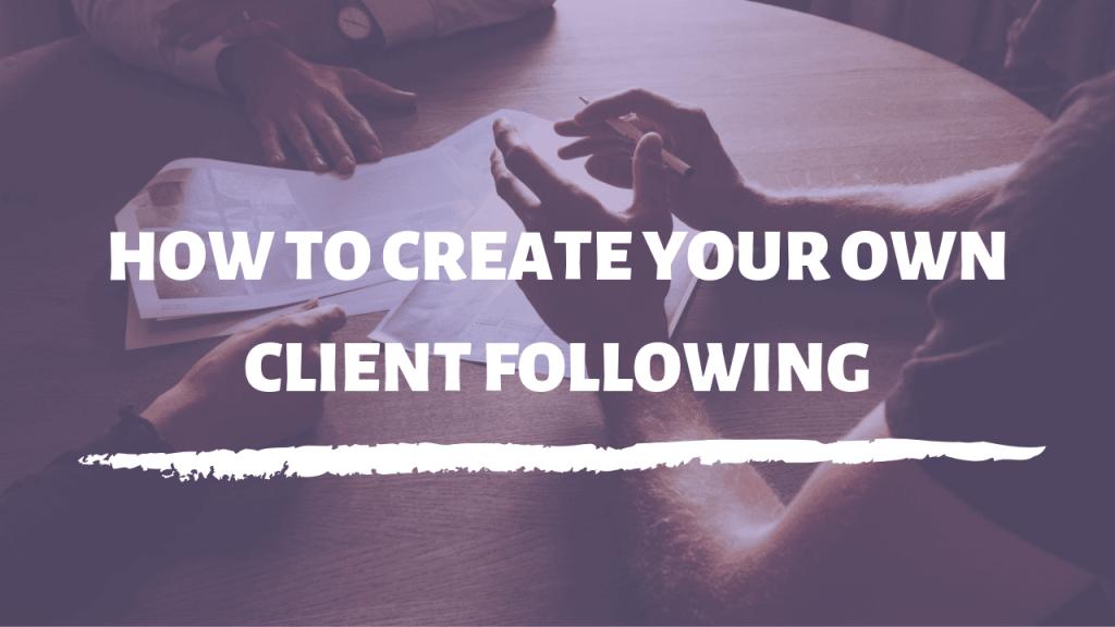 client following