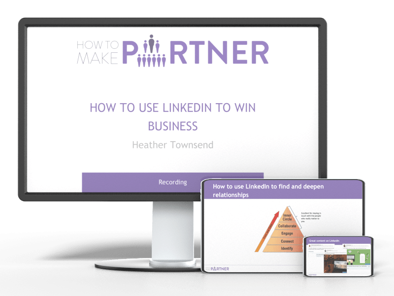how to use LinkedIn to win business recording mockup