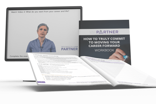 mock up cropped of how to truly commit to your career workbook + monitor