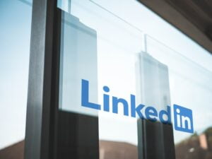 LinkedIn sign as the platform is one of the top job searching tips