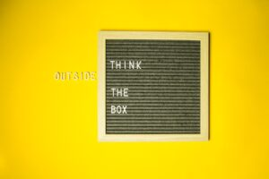 think outside the box is a tip for creating content marketing
