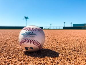 a baseball to represent having your price in the right ballpark when selling a commodity service