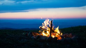a beach fire to represent sure fire tips for linkedin publishing success