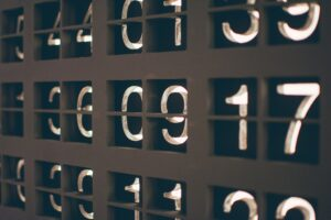 numbers to symbolise candidates not remembering their numbers in the admissions process