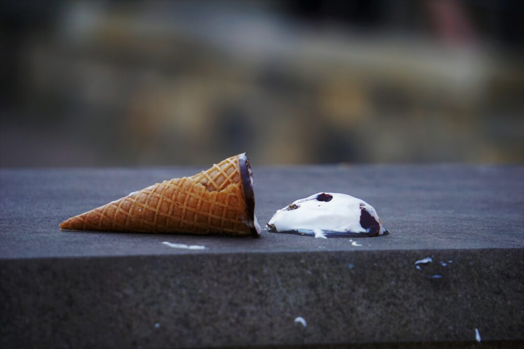 an icecream on the floor to symbolise mistakes made in the partnership admissions process