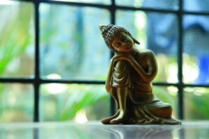 a buddha to symbolise changing your mindset to progress your career