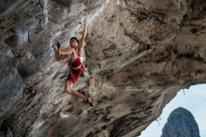 a rock climber to represent being strong after an unsuccessful partnership admissions vote